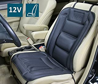 ObboMed SH-4160F Patented 4-Claw Ultra-Tight Fit Plug, 12V Heated Car Seat Cushion with Lumbar Support, 3-Stage Switch, 4-Claw Plug Hold 4-Direction Between Plug & Socket, Specially Secured Fitting
