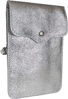 SKUTARI® LEDER MAIDA BRILLANTE Damen Handytasche   aus hochwertigem Leder   Umhängetasche   Handy Mini-Tasche   Geldbörse...