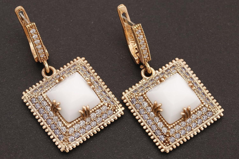 Turkish Handmade Jewelry Square Minneapolis Mall Ranking TOP5 Shape Round Topaz White Onyx and