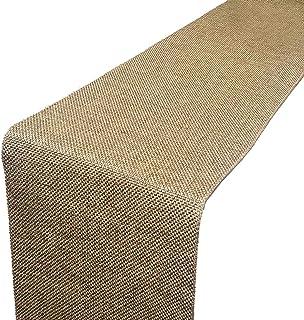 "Parfair Dessin 13"" x 72"" Burlap Jute-Cotton High Density Fabric Table Runner: Natural TRAA2-72"