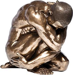 Kare Figurine Homme Nu Assis Bronze 54 cm