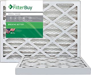 Best FilterBuy 24x30x2 MERV 8 Pleated AC Furnace Air Filter, (Pack of 2 Filters), 24x30x2 – Silver Review