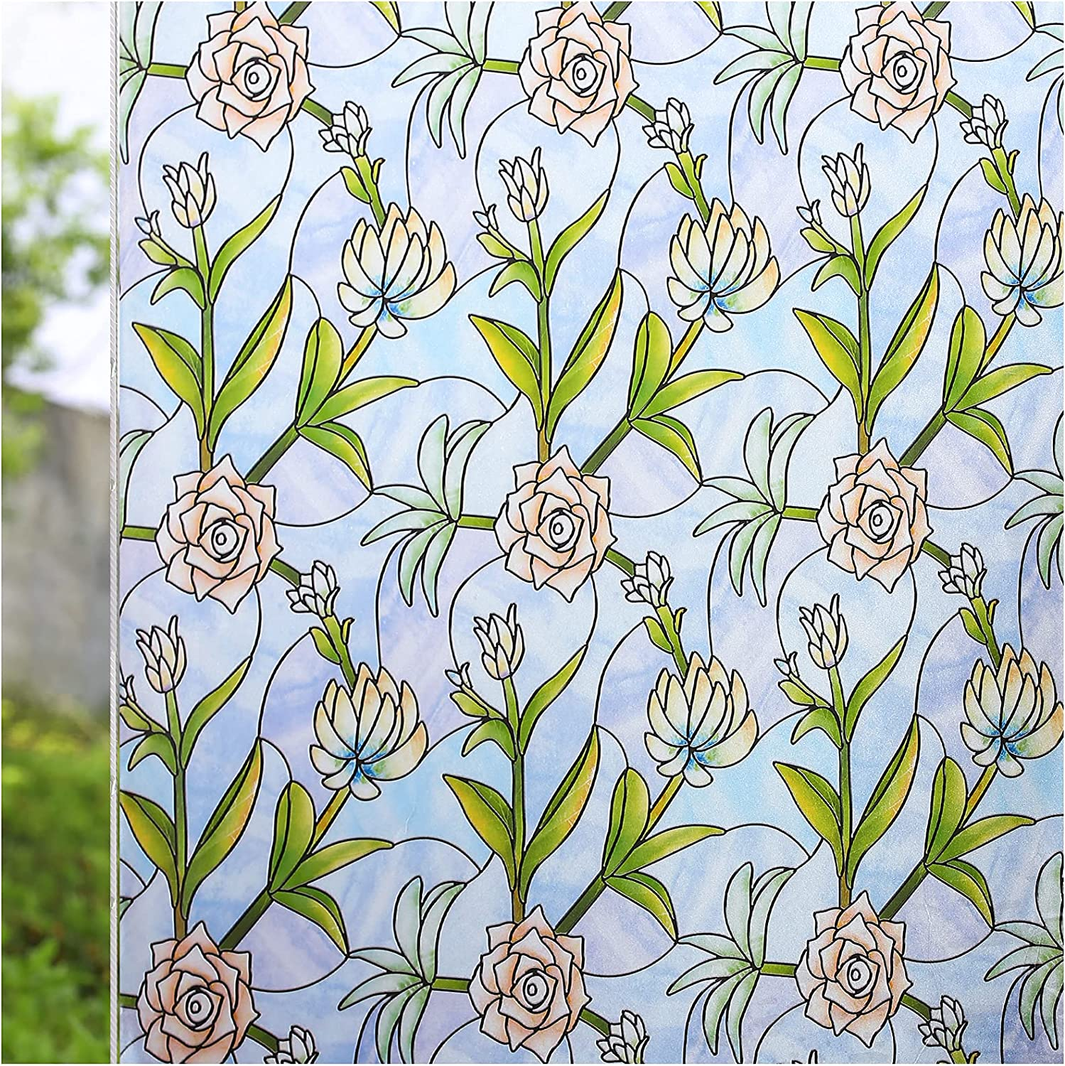 specialty shop CottonColors Window Film Privacy Adhesiv Sticker Decoration Max 40% OFF Self