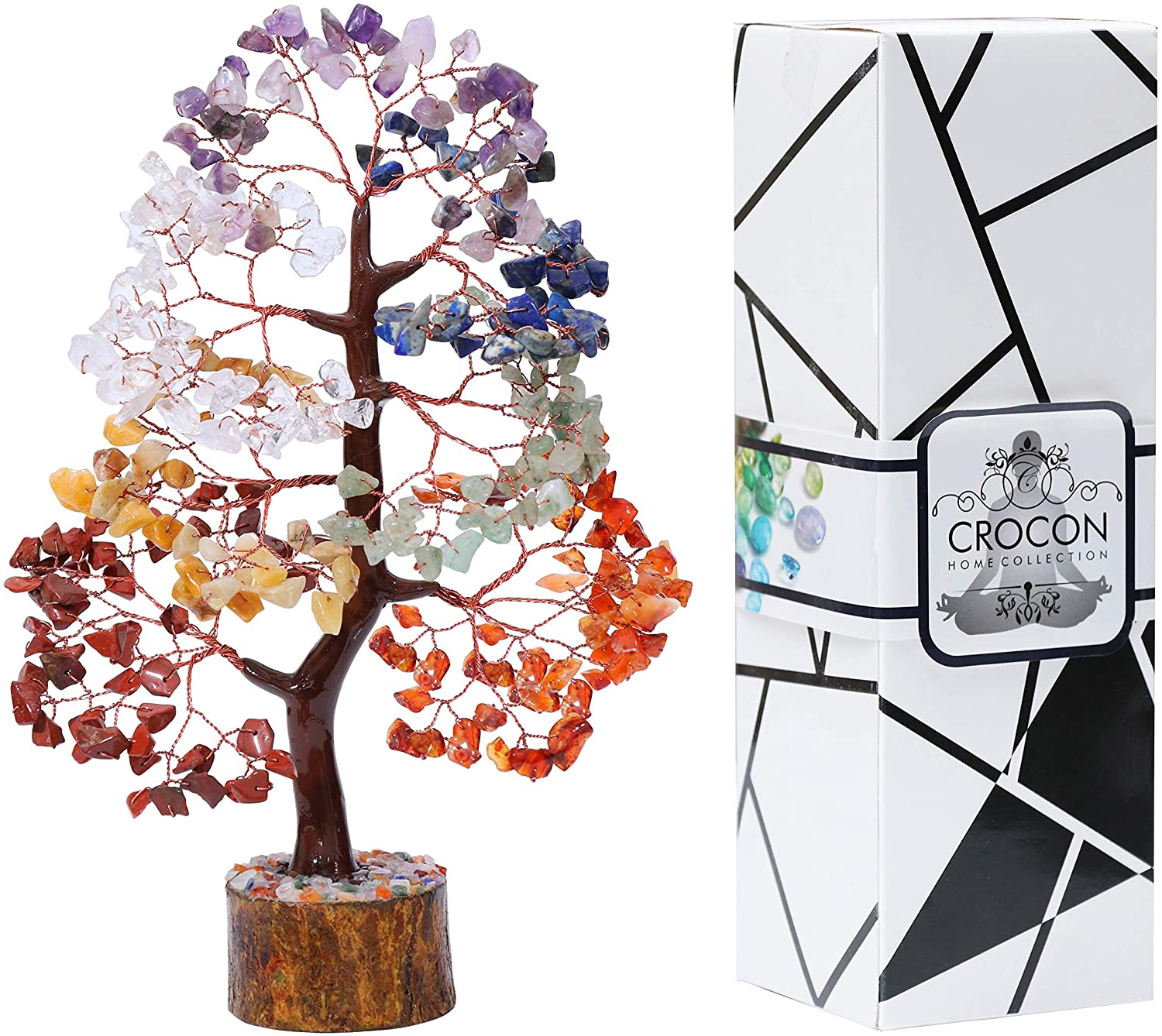 Crocon Seven Chakra Gemstone Tree Max 89% OFF Copper Shui Money Feng Bo Japan's largest assortment Wire