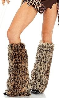 Forplay Women's Animal Print Faux Fur Legwarmers