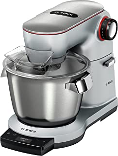 Bosch 1.5 kg Optimum Kitchen Machine, 1500 Watt, Platinum, Silver, MUM9GX5S21