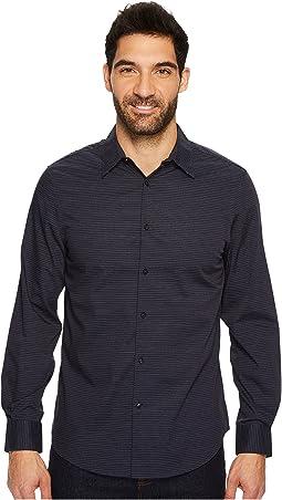Perry Ellis - Long Sleeve Horizontal Multicolor Stripe Shirt