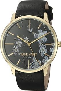 Nine West NW2074BKBK Reloj Análogo para Mujer, color Negro