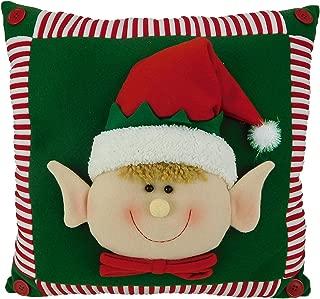 15 Inch Elf Face Christmas Pillow / Christmas Cushion / Elf Christmas Decoration