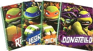 Teenage Mutant Ninja Turtles TMNT set of 4 notebooks! -1 subject wide ruled