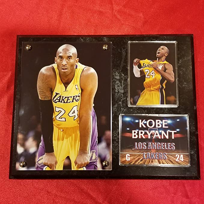 KOBE BRYANT LOS ANGELES LAKERS DELUXE 8x10 COLLECTOR PHOTO PLAQUE
