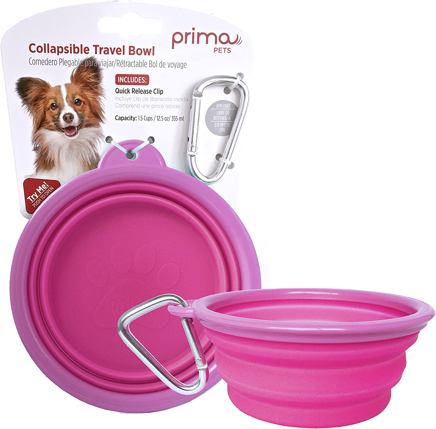 Prima Pet Expandable Collapsible online shopping Silicone Food Travel Water B Branded goods