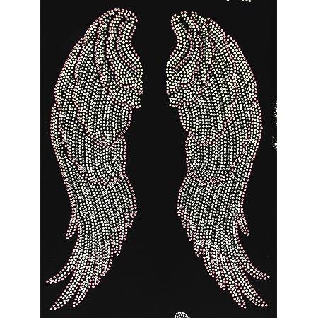 Amazon Com Large Angel Wing Pink Rhinestone Transfer Iron On Diy