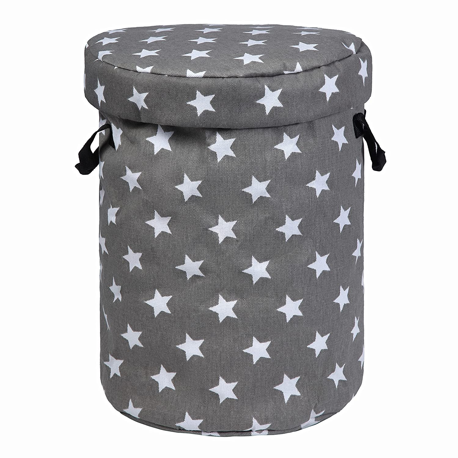 CampLand Toy Storage Basket and Play Mat for Kids Toys Gray