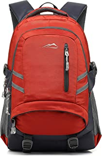 School Backpack BookBag for Student College Travel Hiking Fit Laptop Up to 15.6 Inch (Orange)