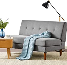 Mellow METTE Modern Armless Loveseat/Sofa/Couch, Classic Grey