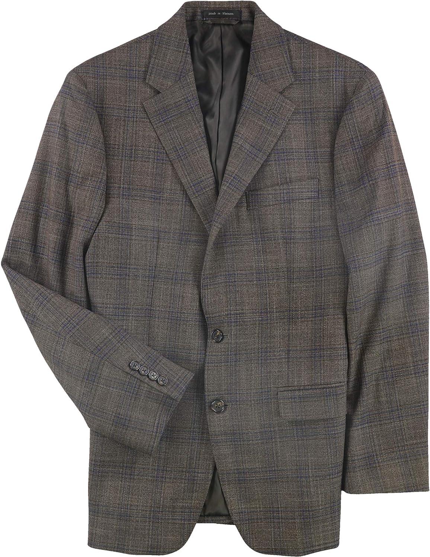 Ralph Lauren Mens Plaid Two Button Blazer Jacket