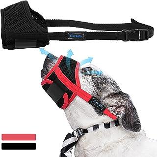 Dovesto Dog Muzzles, Soft Small Medium Large and Extra Large Dog Muzzle Adjustable Mesh Mouth Guard Prevent Biting Barking...