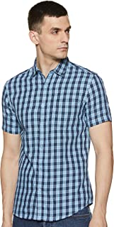 Amazon Brand - Symbol Men's Checkered Regular fit Casual Shirt (SS20SYMCSHS-01E_