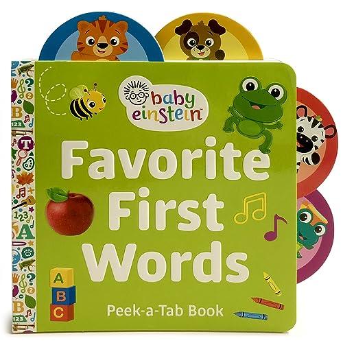 Baby Einstein: Favorite First Words (Lift-a-Tab Board Book)