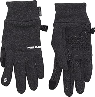 Head Unisex Digital Sport Running Gloves - Dark Heather Gray (SMALL)