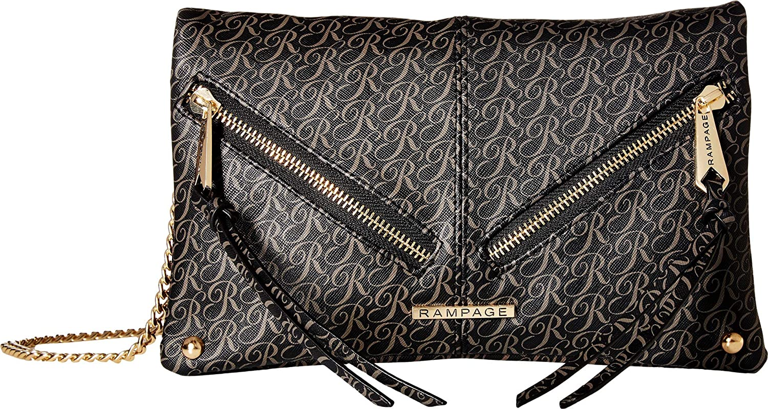 Rampage Womens Signature Multipocket Crossbody Black One Size