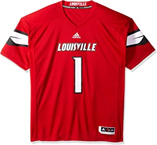 adidas Louisville Cardinals NCAA Men's #1 Red Premier Football Jersey