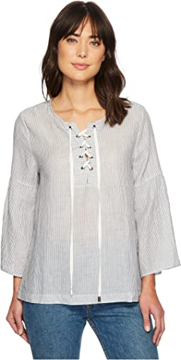 Dylan by True Grit - Classic Stripe Lace-Up Shirt