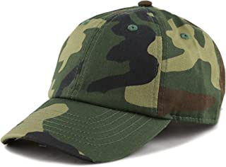 29f8a436 THE HAT DEPOT Kids Washed Low Profile Cotton and Denim Plain Baseball Cap  Hat