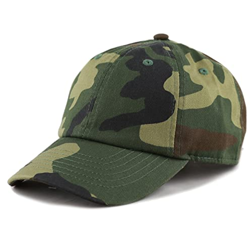 7a2e403b884d5 THE HAT DEPOT Kids Washed Low Profile Cotton and Denim Plain Baseball Cap  Hat
