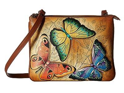Anuschka Handbags 570 Triple Compartment Crossbody (Earth Song) Handbags