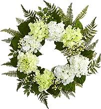 Nearly Natural 24? Hydrangea Berry Wreath, White