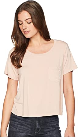 Rayon Jersey Crop Pocket Tee