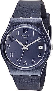 Swatch Core Refresh Quartz Silicone Strap, Blue, 17 Casual Watch (Model: GN414)
