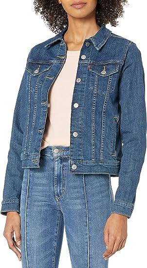 short dark blue jeans jacket Levis sale