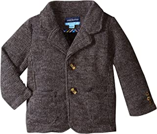 Andy & Evan Baby Boys' Sweater Knit Blazer-Infant - Gray