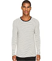 ATM Anthony Thomas Melillo - Long Sleeve Striped Viscose Tee