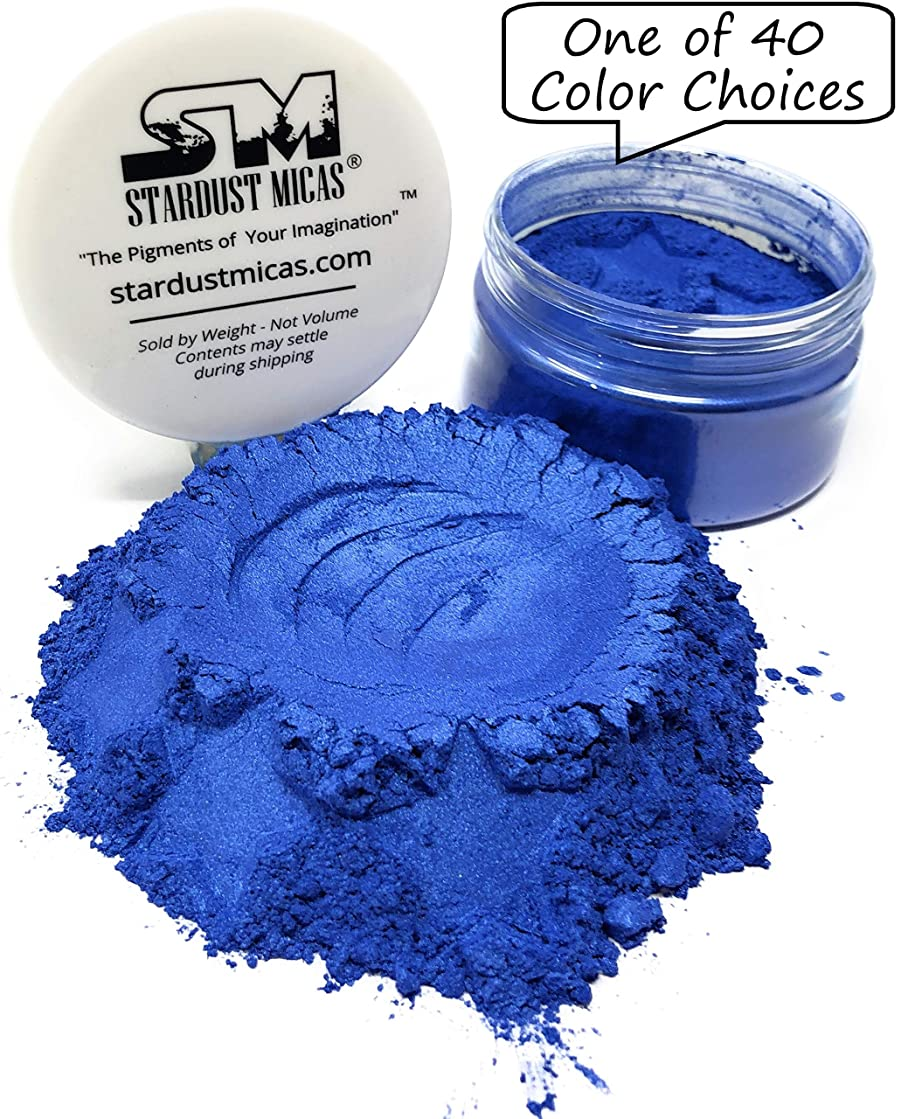 Dark Blue Pigment Powder for Resin, Wood Inlay Powder, Metallic Pigment Mica Powder for Soap Making, Bold Pigment Color for Resin, Stardust Micas Stormy Skies Blue (Stormy Skies, 36 Gram Jar)