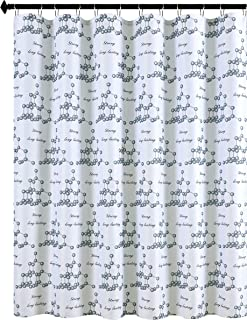Biscaynebay Textured Fabric Shower Curtains, Strong & Long Lasting Printed Bathroom Curtains, Gray 72 in Width by 84 in Le...