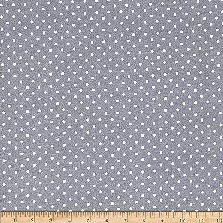 2 Yards Blue Polka Dot Flannel Fabric
