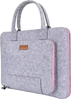 """Ropch 15.6"""" Felt Laptop Sleeve with Handle Portable Notebook Computer Carrying Case Bag Pouch for 15 15.6 Inch Asus / Acer..."""