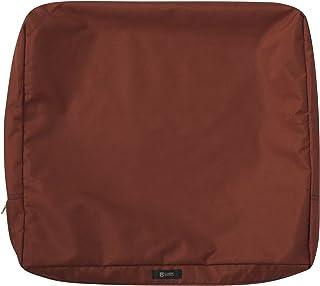 "Classic Accessories 60-409-011701-RT Ravenna Cushion Slip Cover, 23"" H x 20"" W x 4"" T, Spice"