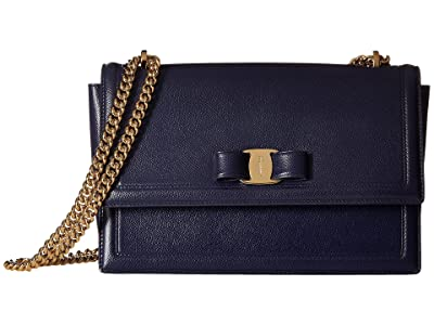 Salvatore Ferragamo Ginny Shoulder Bag (Mirto) Handbags