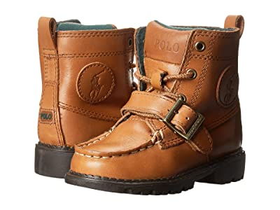 Polo Ralph Lauren Kids Ranger Hi II (Toddler) (Tan Burnished Leather) Boys Shoes