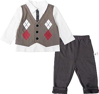 COTTON FAIRY Baby Boys Pants Set Long Sleeve Shirts+ Pant 2 Piece Clothes Set