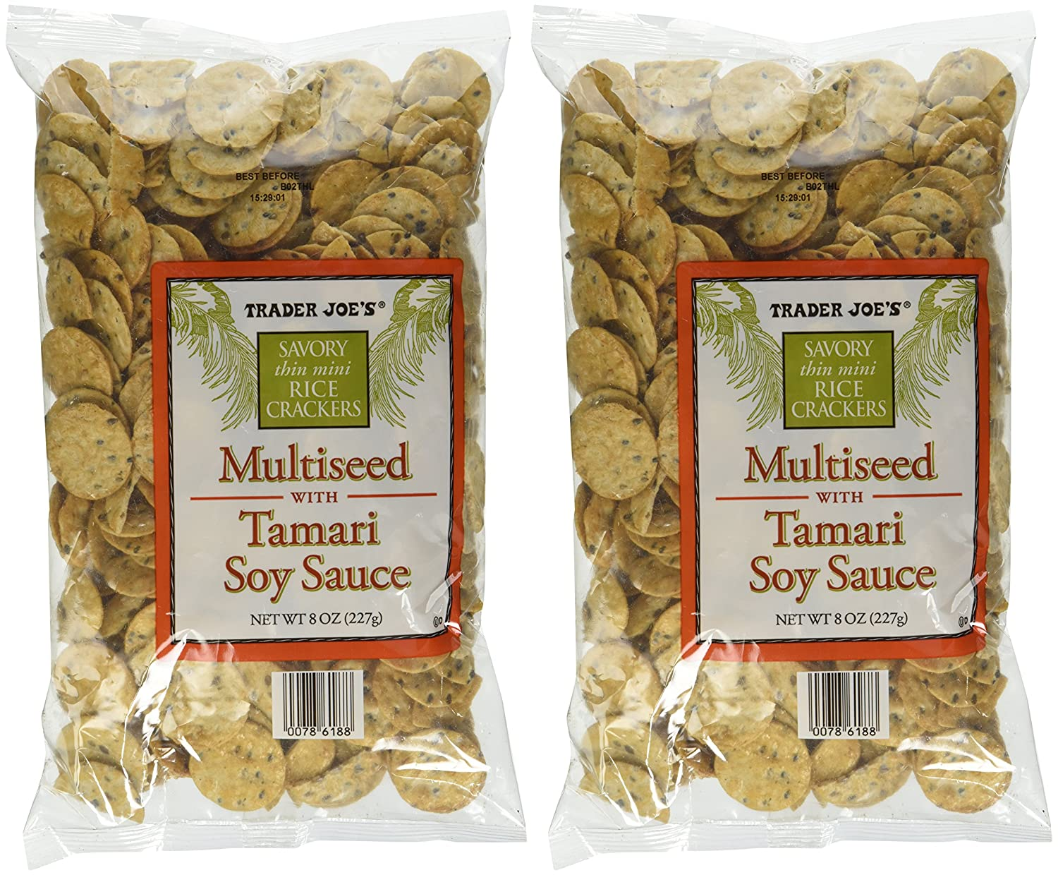 Trader Joe's Multiseed with Soy Sauce 2021 autumn and winter new 2 of Rice Pack Cheap mail order shopping Crackers