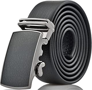 Mio Marino Classic Ratchet Belt - Premium Leather - 1.38 Wide - Adjustable Buckle - Free Gift Box