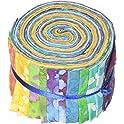 "Fabric Palette 20-Pk. 2-1/2"" X 42"" 100-Percent Cotton Cuts Jellies"