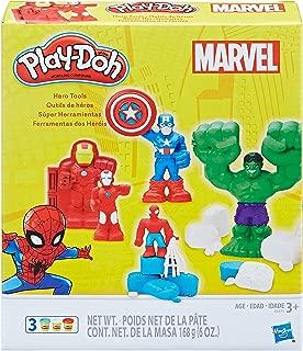 super hero play doh