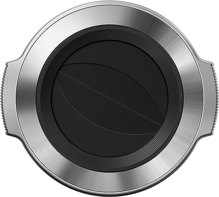 Olympus LC-37C - Tapa de Apertura automática para Objetivo M.Zuiko Digital (ED 14-42 mm f:3.5-5.6) Plata